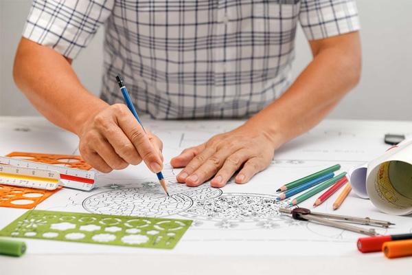 landscape design pro using pencils